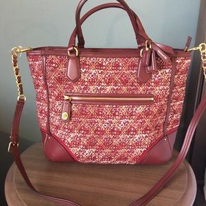 Coach AUTHENTIC Poppy Quilted Boucle Tote 26416NEW